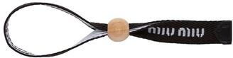 Miu Miu Logo Fabric Bracelet