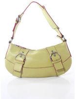 Nicole Miller Yellow Leather Silver Tone Single Strap Shoulder Handbag 29