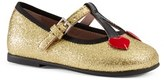 Gucci Toddler Girl's 'Cerise' Mary Jane Flat