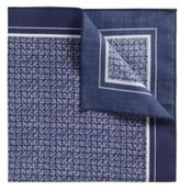 Hugo Boss Pocket sq. cm 33x 33 Cotton Patterned Pocket Square One Size Blue