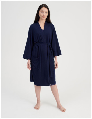 S.O.H.O New York Waffle Robe in Peacot
