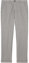 Jigsaw Micro Check Linen Cotton Trousers, Grey