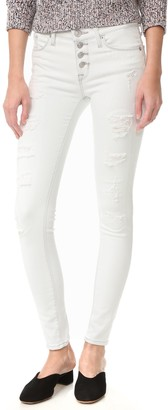 Hudson Women's Ciara Super Skinny Exposed Buttons Jeans