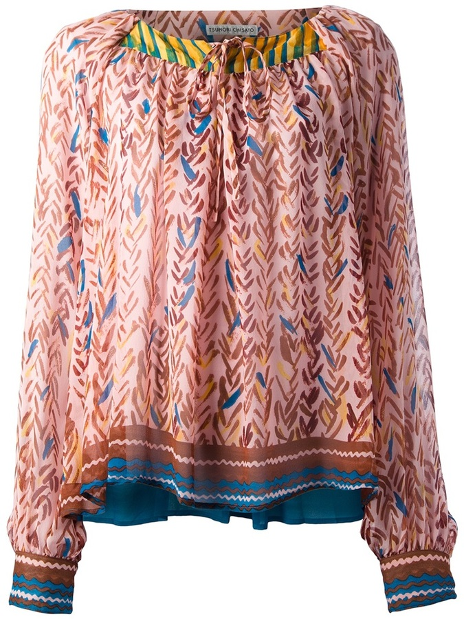 Tsumori Chisato printed silk blouse