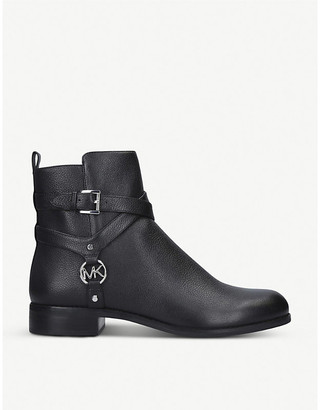 MICHAEL Michael Kors Preston Flat harness leather ankle boots