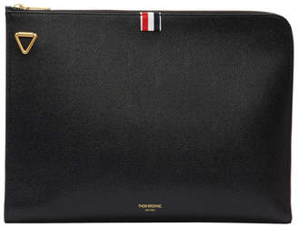 Thom Browne Black Large Gusset Shoulder Strap Portfolio