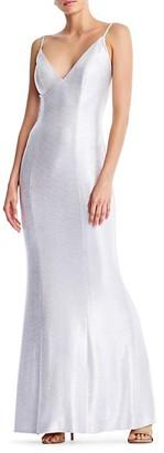 Adrianna Papell Sleek Foil Dress