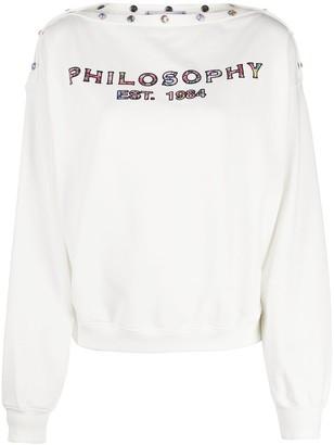 Philosophy di Lorenzo Serafini Logo-Print Cotton Sweatshirt