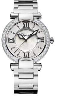 Chopard Imperiale Diamond, Mother-Of-Pearl& Stainless Steel Bracelet Watch