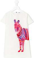 MSGM zebra dress - kids - Cotton/Polyester - 12 yrs