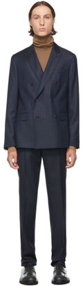 BOSS Navy Double Breasted Namil Boit Suit