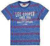 Lee Cooper Kids Boys Crew Neck Tee Shirt Short Sleeve Cotton Regular Fit Stripe