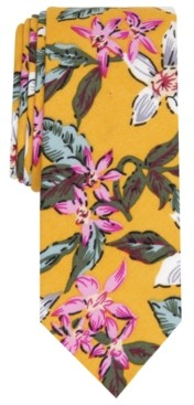 Bar III Men's Bayside Skinny Floral Tie, Created for Macy's