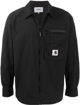 Carhartt Wip zipped logo patch shirt jacket