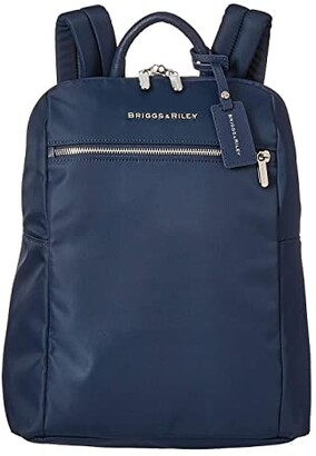 Briggs & Riley Slim Small Backpack (Navy) Backpack Bags