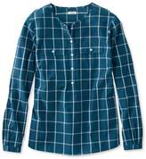L.L. Bean L.L.Bean Cotton Henley Pullover, Long-Sleeve Windowpane