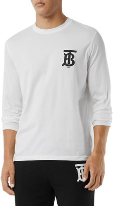Burberry Atherton TB Monogram Logo Graphic Tee