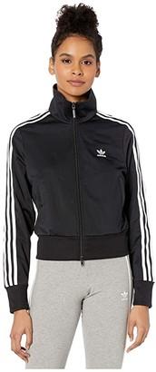 adidas adiColor Classics Firebird Track Top (Black/White) Women's Clothing