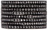 Repossi 'Antifer' diamond 18k black gold eight row teardrop ring