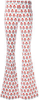 Giamba printed flared trousers - women - Cotton/Spandex/Elastane - 40