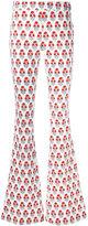 Giamba printed flared trousers - women - Cotton/Spandex/Elastane - 40