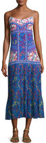 Saloni Veronica Pleated-Skirt Maxi Dress, Multi Pattern