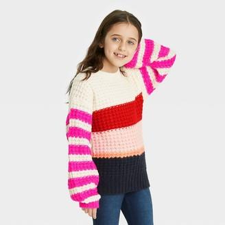 Cat & Jack Girls' Colorblock Pullover Sweater - Cat & JackTM
