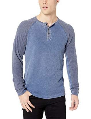 Lucky Brand Men's Long Sleeve Burnout Color Block Thermal Shirt