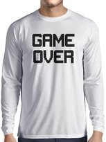 lepni.me Long sleeve t shirt men GAME OVER! Vintage t shirts funny gamer gifts gamer shirt