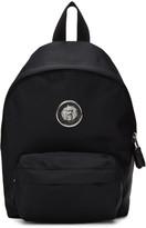 Versus Black Small Nylon Lion Medallion Backpack