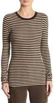 Vince Railroad Stripe Pima Cotton Sweater