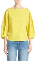 Tibi Women's Boatneck Cotton Top