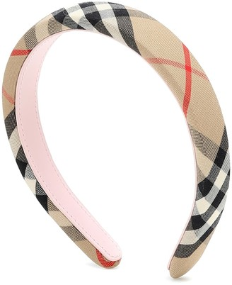 BURBERRY KIDS Vintage Check canvas headband