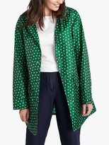 Seasalt Spot Print Waterproof Pack It Jacket, Green