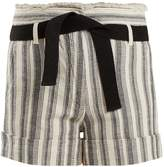 Vanessa Bruno Ezed high-rise striped cotton shorts