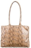 Moschino Embossed Leather Tote