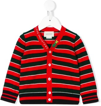 Gucci Kids Love Monsters striped cardigan