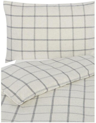 Gray and Willow Gray Ecoheather Flannel Duvet Set