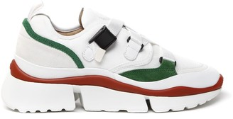 Chloé Sonnie White Leather Sneakers