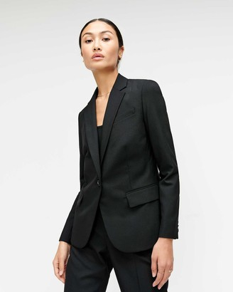 7 For All Mankind Classic Blazer in Jet Black