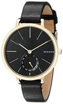 Skagen Women's SKW2354 Hagen Black Leather Watch