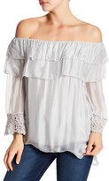 Luma Ruffled Crochet Trim Blouse