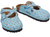 Birkenstock Infant Girls Dorian Birko-Flor Narrow Fit Sandals Minnie Flower Pattern Blue