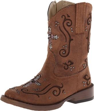 Roper Faith Square Toe Bling Cowgirl Boot (Toddler/Little Kid)