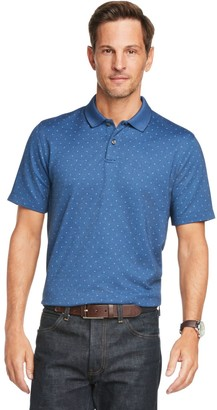 Van Heusen Men's Flex Printed Short Sleeve Polo