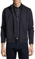 HUGO BOSS Layered Full-Zip Sweatshirt, Navy