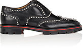 Christian Louboutin Men's Crapamale Flat Studded Leather Wingtip Balmorals