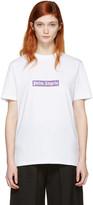 Palm Angels White Boxy Logo T-shirt