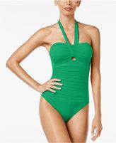 Lauren Ralph Lauren Beach Cutout One-Piece Swimsuit