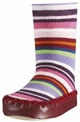 Playshoes Unisex Kid's Anti-Slip Cotton Socks Stripes Slippers